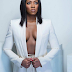 Tiwa Savage sexy in white suit