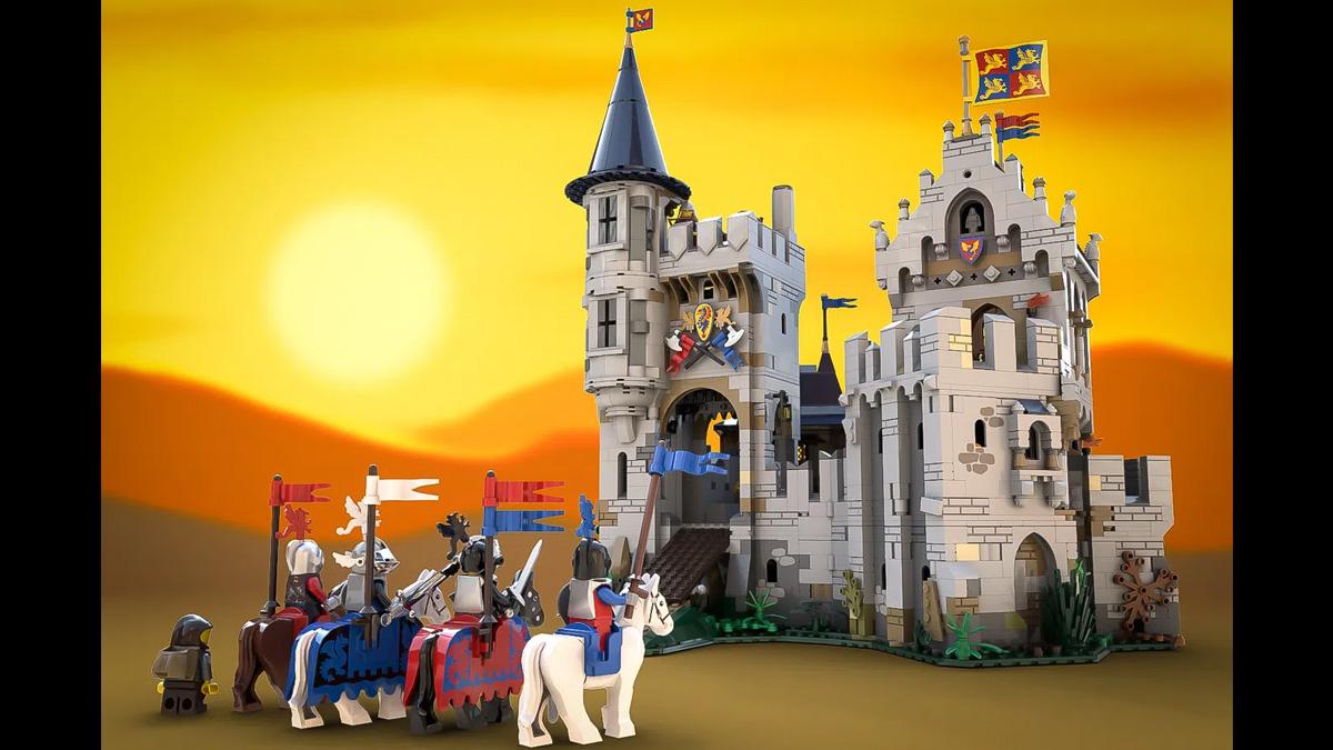 レゴアイデアで『アフォル卿と黒騎士の城』が製品化レビュー進出!2021年第1回1万サポート獲得デザイン紹介