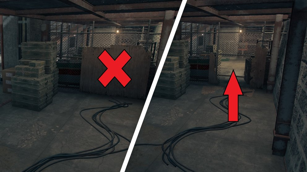 Smash the wood paneling and cross the hidden hole in the fence (Far Cry 6).