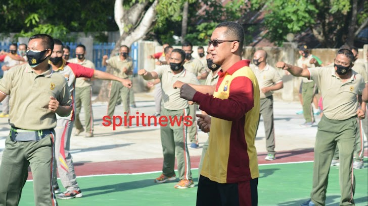 Sinergitas TNI – Polri, Polres Takalar dan Kodim 1426 Gelar Olahraga Bersama