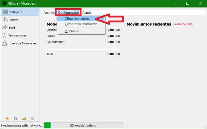 Cifrar monedero seguridad contraseña wallet criptomoneda HSR