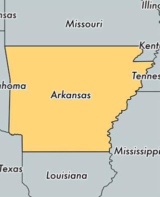 Arkansas Eyaleti Harita