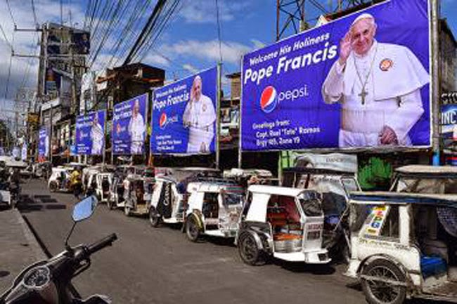 Pope Francis 'EPAL' Tarpaulins and Advertising Materials Distributed in Metro Manila