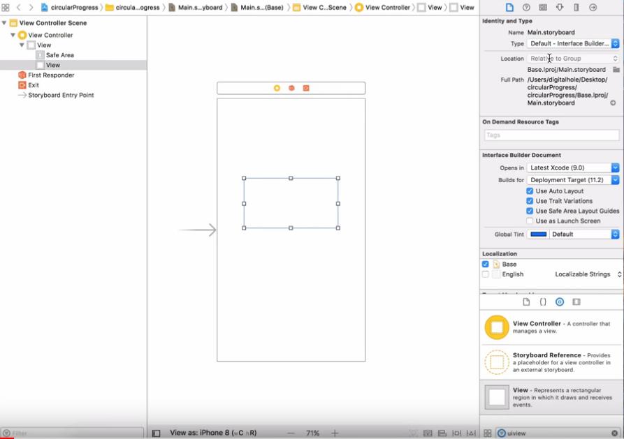 How Create Animated Circle Progress Bar iOS 11 Swift 4