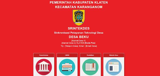 SRINTEKDES : Penyiapan login hotspot dan srintekdes