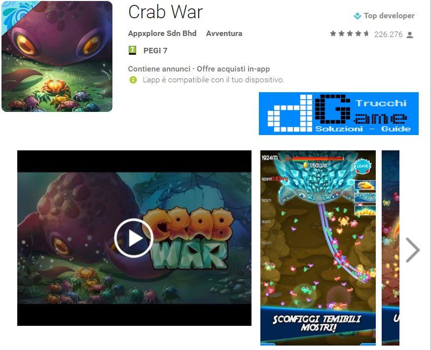 Trucchi Crab War Mod Apk Android v1.5.0