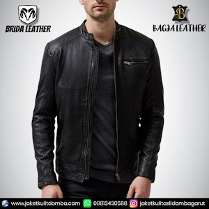 Jual Jaket Kulit Asli Garut Pria Domba Original Brida Leather B104 | WA 08813430588