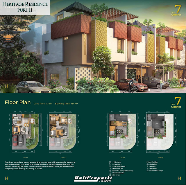 tipe unit heritage residence puri 11