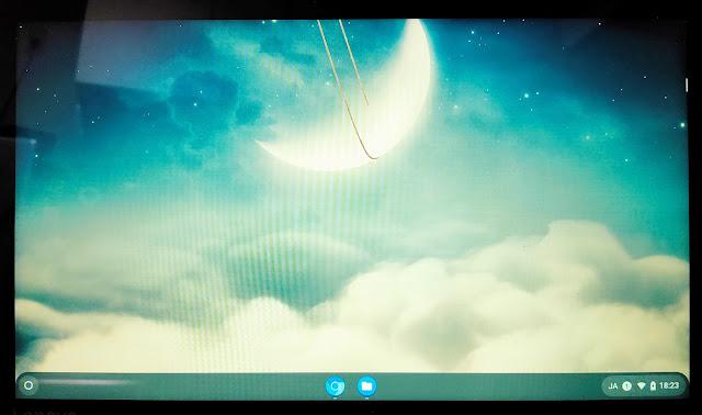 Chromium OSのデスクトップ画面