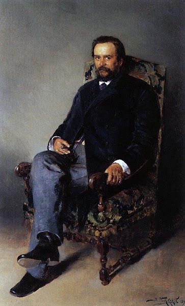 Маковский Владимир Егорович - Портрет И.Е.Цветкова. 1890