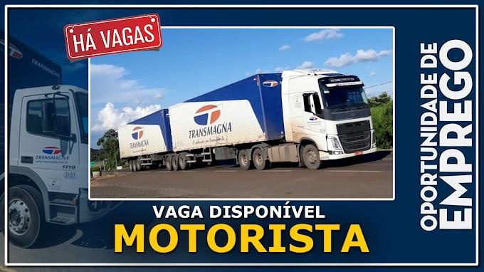 Trans Magna abre novas vagas para Motorista categoria D