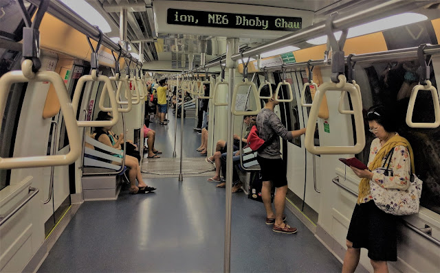 subway interior: cleaned and organized