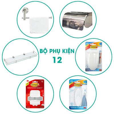 Trọn bộ phụ kiện nhà tắm 6 món chiết khấu cao Q. 5, Sài Gòn