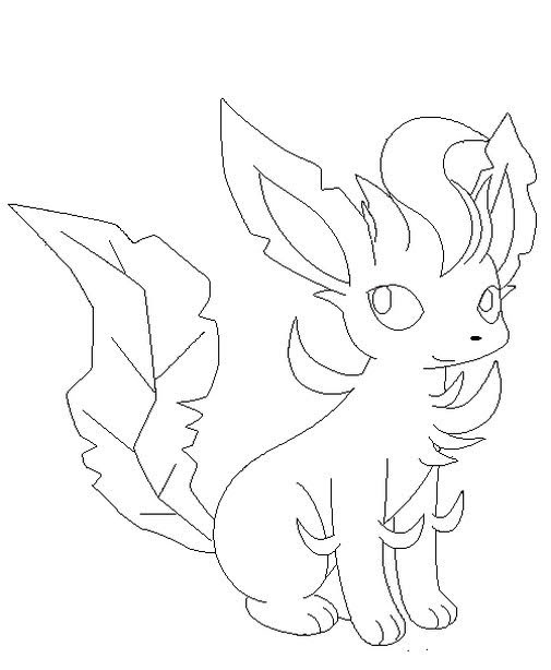 Pokemon Leafeon Coloring Pages - Free Pokemon Coloring Pages