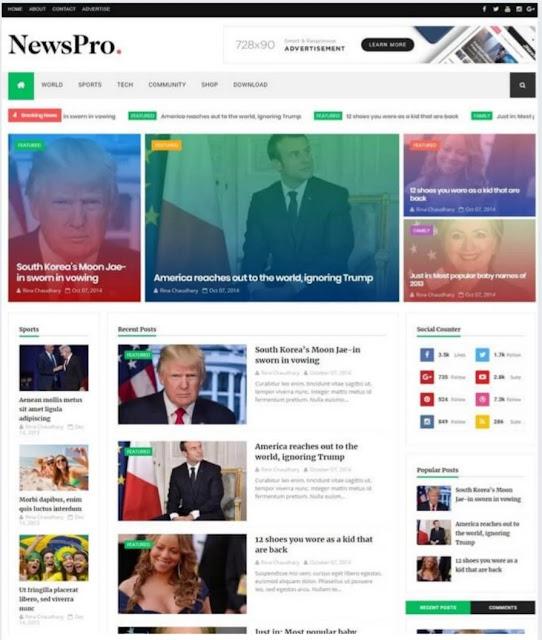 blogger templates, newspro responsive blogger template, best 10 responsive blogger templates, blogger templates free download, how to download blogger template, best free template for blogger 2020