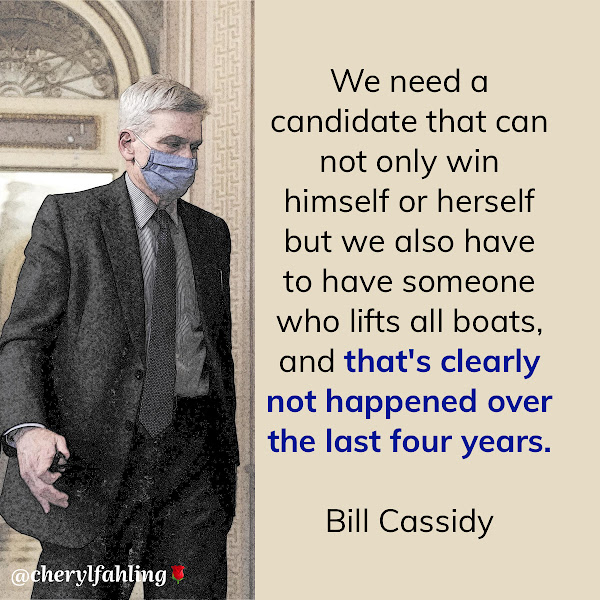 We need a candidate that can not only win himself or herself but we also have to have someone who lifts all boats, and that's clearly not happened over the last four years. — Sen. Bill Cassidy (R-Louisiana)