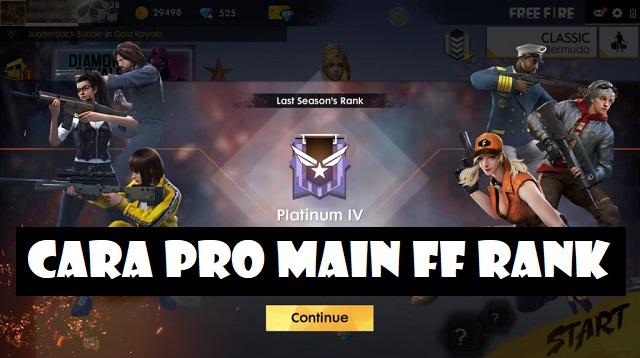 Cara Pro Main FF Rank