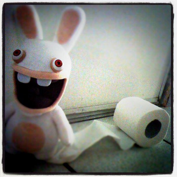 lapin crétin papier toilette