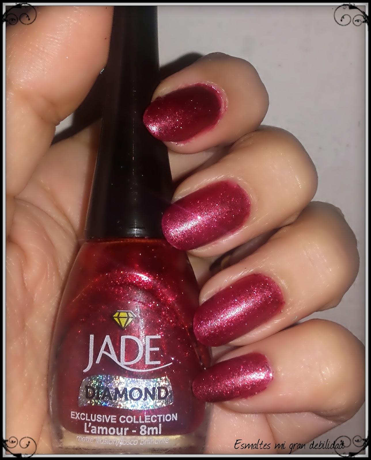 Esmalte mi gran debilidad: Jade diamond l\'amour + decó simple