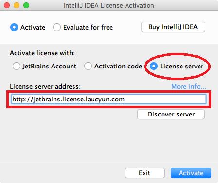 Intellij 2019 license server