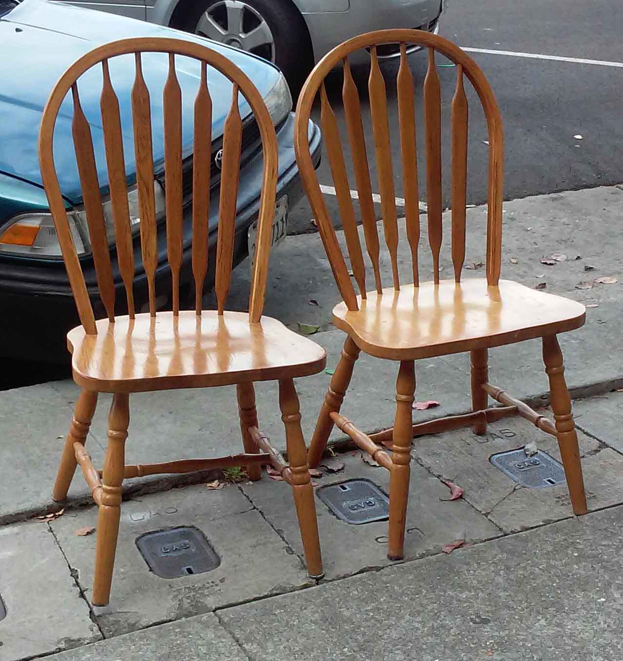 Oak Windsor Chairs Uhuru Furniture And Collectibles Sold Pair Of Oak Windsor