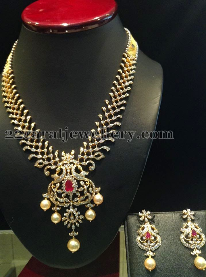 Diamond Necklace Worth 7 Lakhs Jewellery Designs