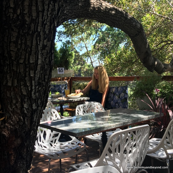 patio seating at One House Bakery in Benicia, California