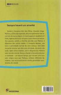 Sempre haverá um amanhã. Giselda Laporta Nicolelis. Editora Moderna. Coleção Veredas. Contracapa de Livro. 2012.