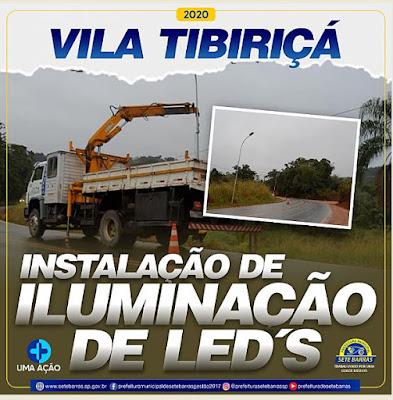 Sete Barras  inicia a instalação de luminárias de LED na SP-139 / SP-165 sentido Bairro Tibiriçá.