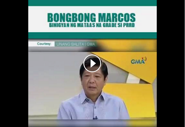 WATCH | BONGBONG MARCOS HANGA KAY PRES. DUTERTE, NAGBIGAY NG MATAAS NA GRADO