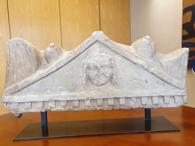 Repatriation of an inscribed pediment of a funerary stele to Cyprus