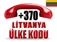 +370 Litvanya ülke telefon kodu