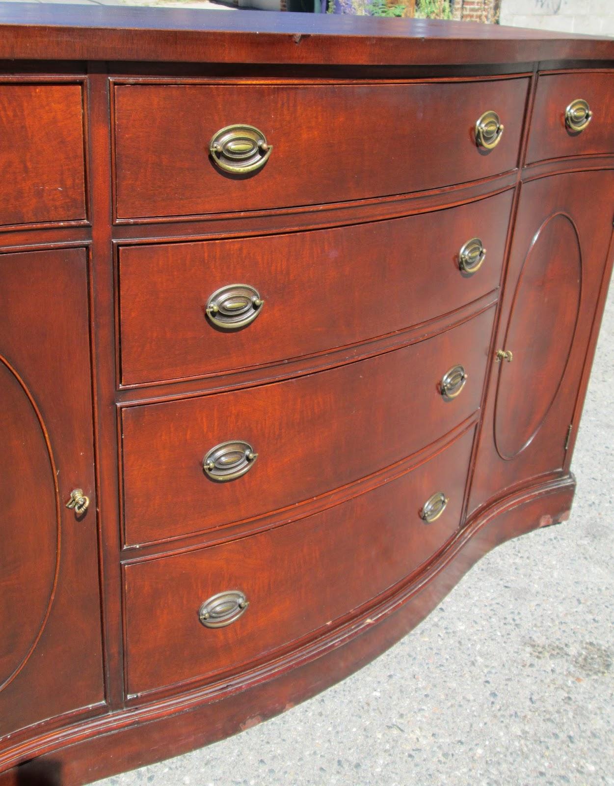 Boho Chic Vintage Buffet Dresser Duncan Phyfe Style