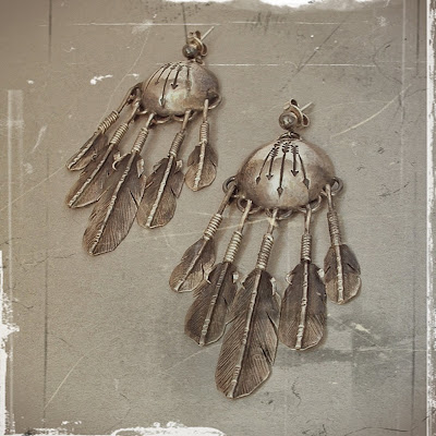 Old Pawn Navajo Earrings