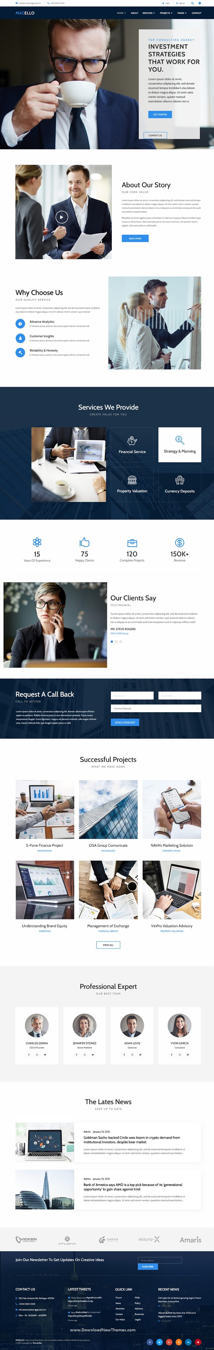 Business Consulting and Accounting Elementor Template Kit