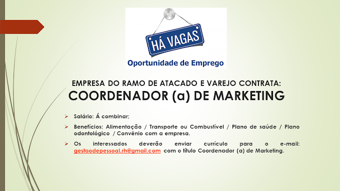 COORDENADOR(A) DE MARKETING