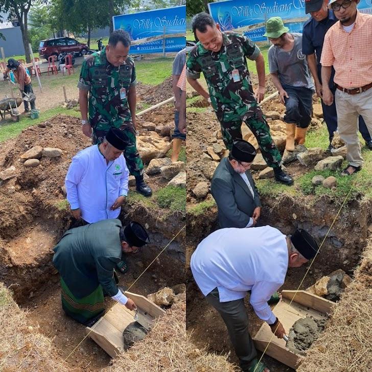 Letkol Sus Husban Abady, Hadiri Peletakan Batu Pertama Pembangunan Masjid Abdullah Kompleks VSS