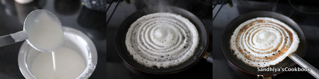 Making of  dosa