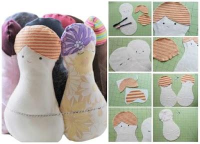 Cómo hacer un muñeco bebe con forma de cacahuete