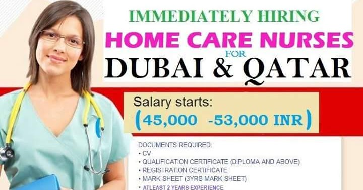 Urgent Hiring Nurses great Opportunity for fresher for DUBAI & QATAR