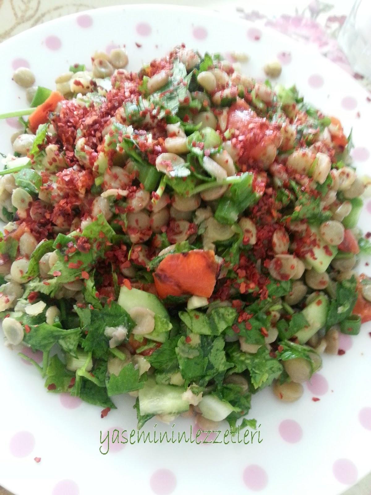 Tok tutan yeşil mercimek salatası