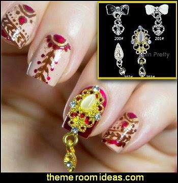Charming 3D Nail Art Dangle Charm Rhinestones Decoration-nail decorations