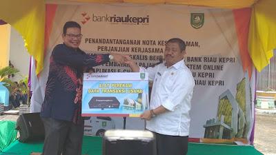Bupati Bengkalis Terima CSR dari Bank Riau Kepri dan Lakukan MOU Layanan Jasa Perbankan