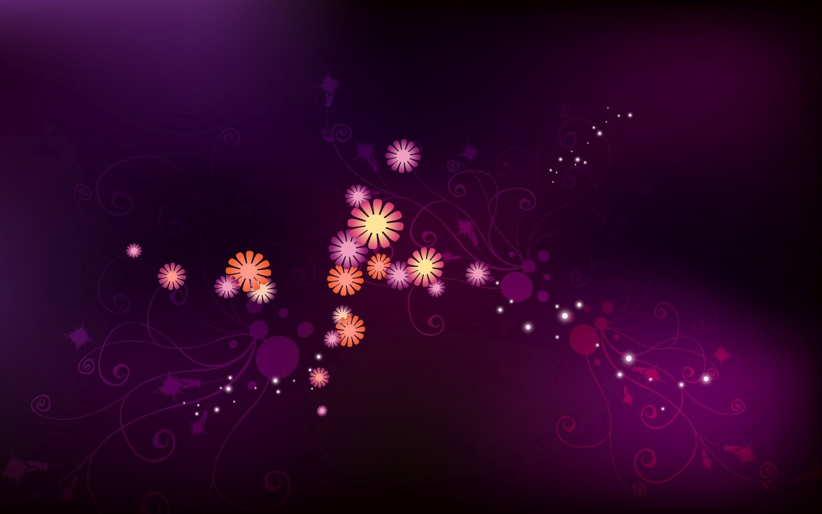 Small Flowers Design Purple Background Wallpapers | Purple ...