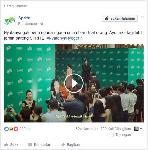 iklan pada halaman beranda Facebook