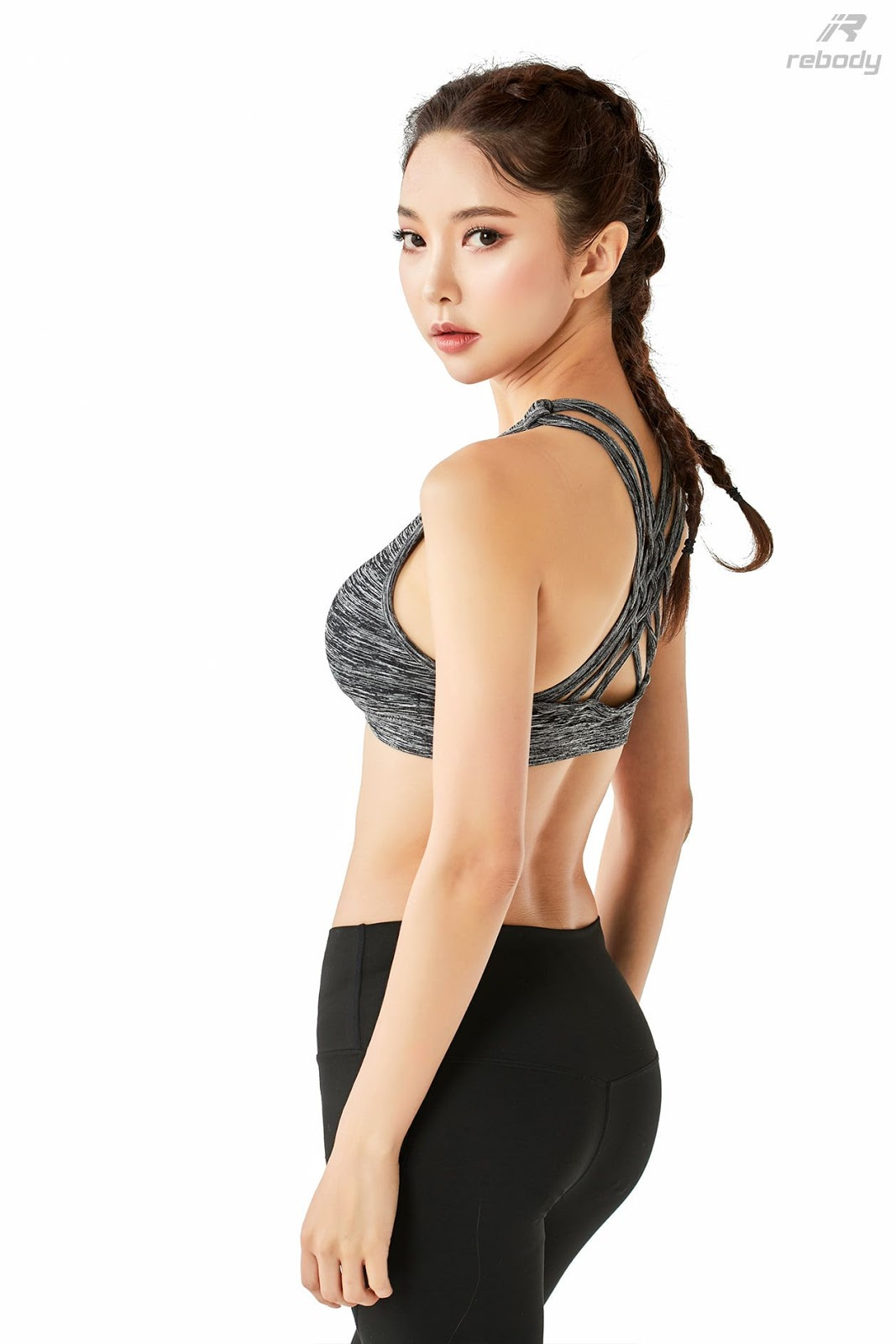 Park Soo Yeon - Sports Bra Fitness Set - Korean fashion model - Picture 8