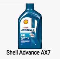 Gambar minyak pelincir motor shell ax7