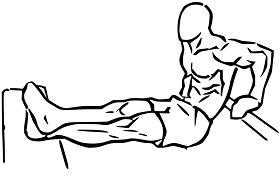 تمرين الذراع من تمارين شد البطن والارداف