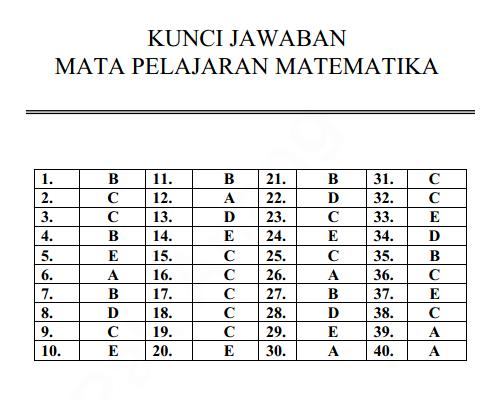 Soal Dan Kunci Jawaban Latihan Un Unbk Usbn 2019 2020 Matematika Prodi Bahasa Pendidikan Kewarganegaraan Pendidikan Kewarganegaraan
