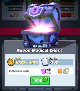 treasure gratis pada clash royale
